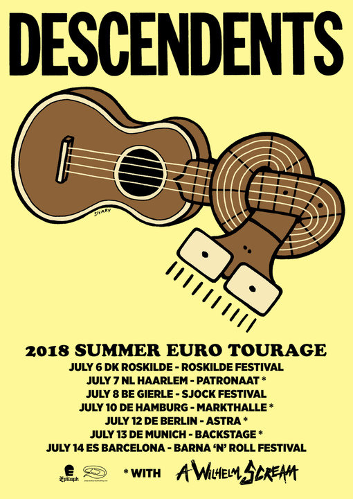 Medium descendents 2018 summer euro tourage poster with extra for trimming