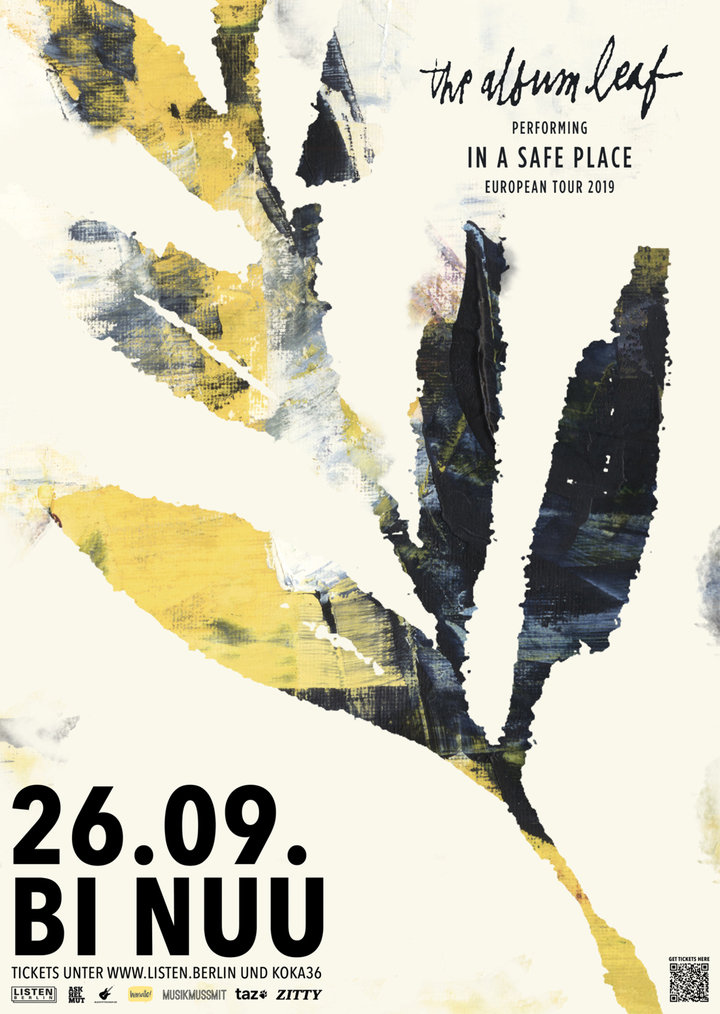 Large the album leaf in a safe place european tour poster rgb berlin web