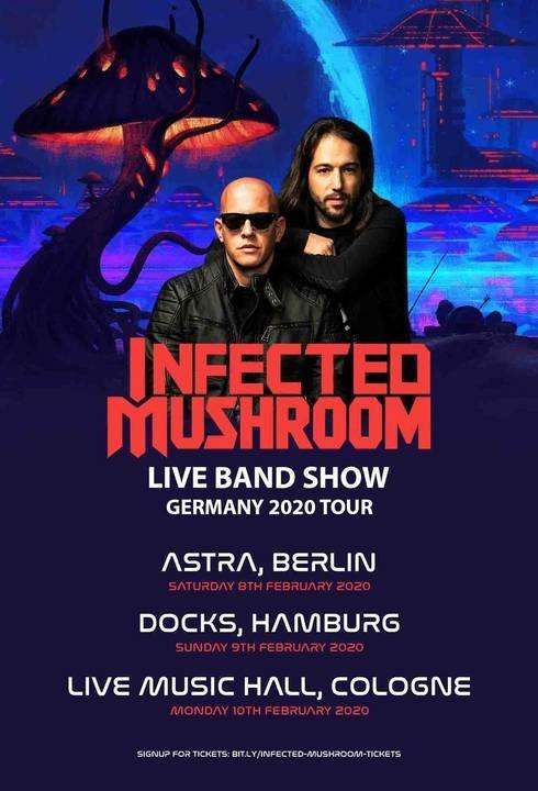 Medium infected mushroom tourplakat